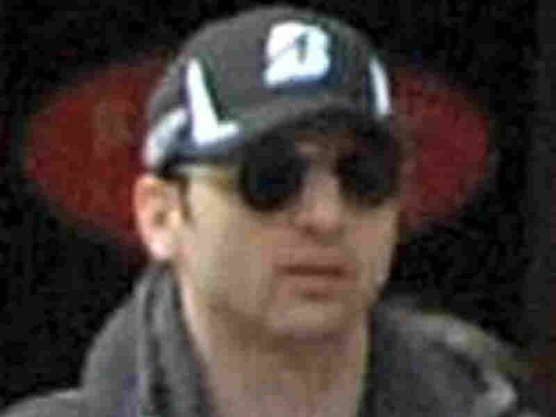 Tamerlan Tsarnaev, as seen in a video taken on April 15 near the finish line of the Boston Marathon.