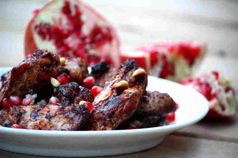 Triple-Pomegranate Roast Chicken Wings