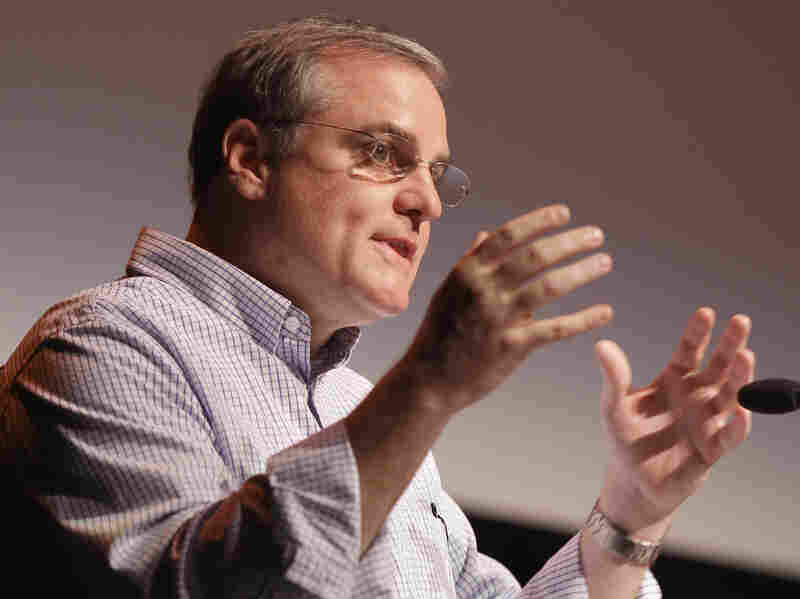 Sen. Mark Pryor, D-Ark., speaks in Stuttgart, Ark., in August. Pryor's latest ad in his re-election campaign hammers his GOP opponent's position on the government shutdown.