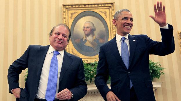 Pakistani Prime Minister Nawaz Sharif met with President Obama at the White House on Wednesday.