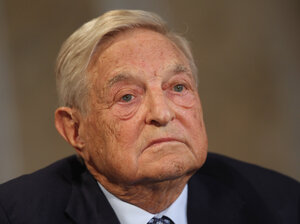 George Soros, seen at a forum in Berlin last year, joined a superPAC backing a Hillary Clinton presidential run in 2016.