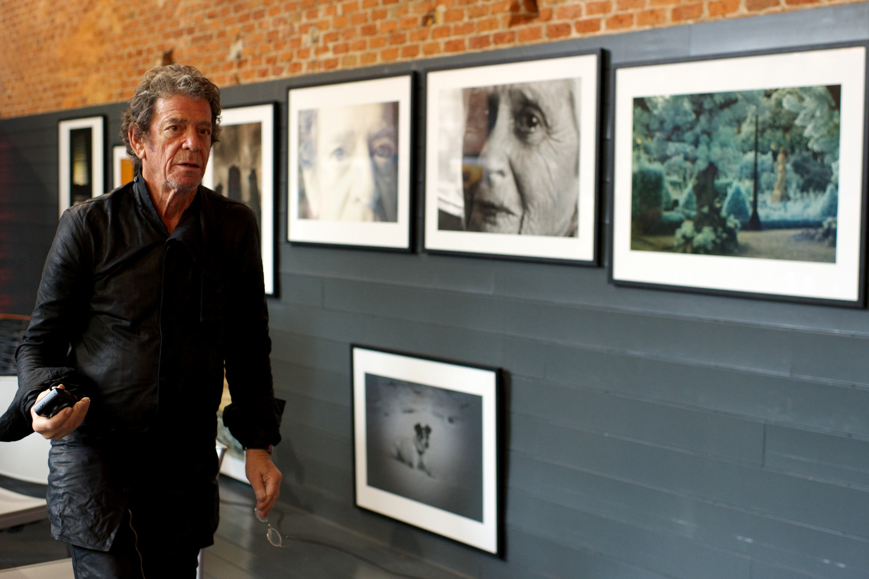 Reed presents his photography exhibition at the Matadero cultural center in Madrid on Nov. 16, 2012.