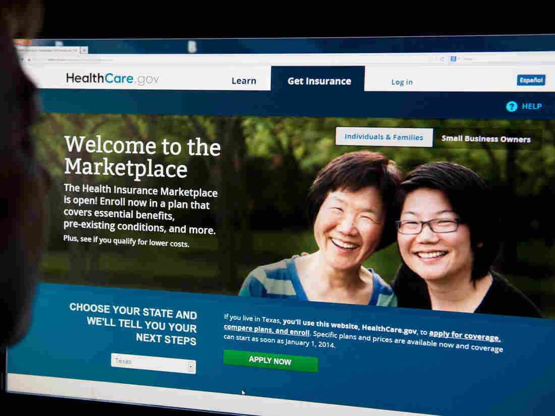 The HealthCare.gov insurance exchange site shown on Oct. 1, when it opened. Since then, it's been plagued with problems.
