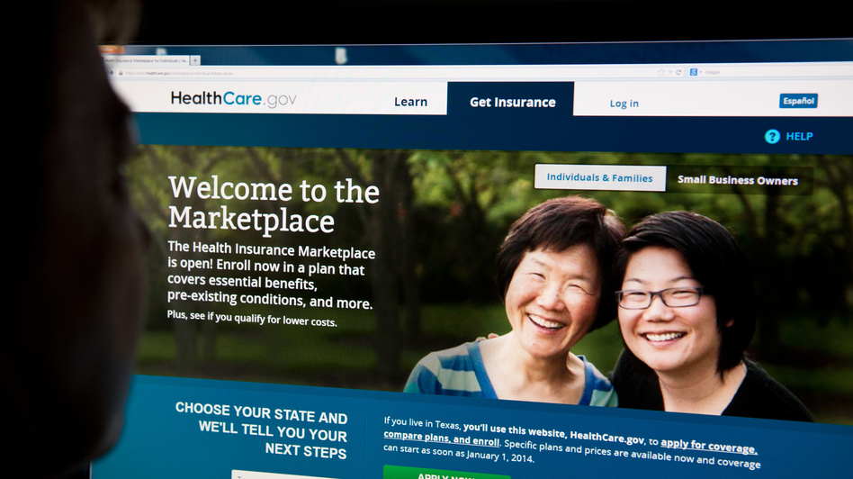 The HealthCare.gov insurance exchange site shown on Oct. 1, when it opened. Since then, it's been plagued with problems. (AFP/Getty Images)