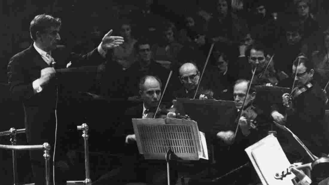 Composer and conductor Leonard Bernstein, shown here conducting the New York Philharmonic orchestra in 1963, was a legend in American music. Letters to and from Bernstein have been compiled into The Leonard Bernstein Letters, a new book edited by Nigel Simeone.