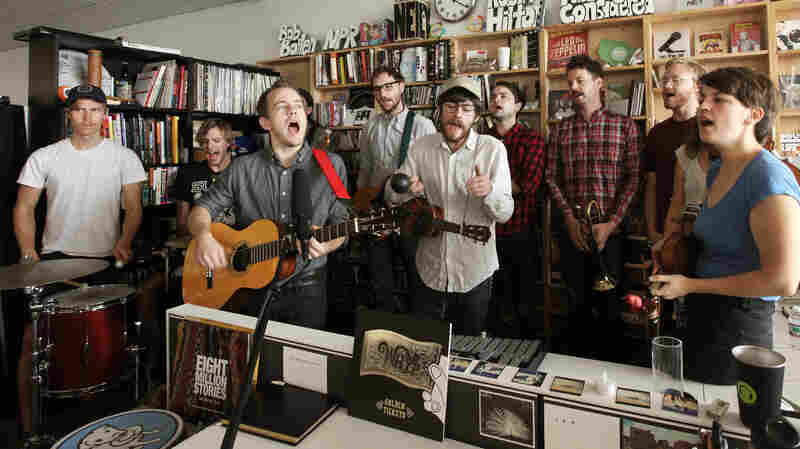 Typhoon performs a Tiny Desk Concert in October 2013.