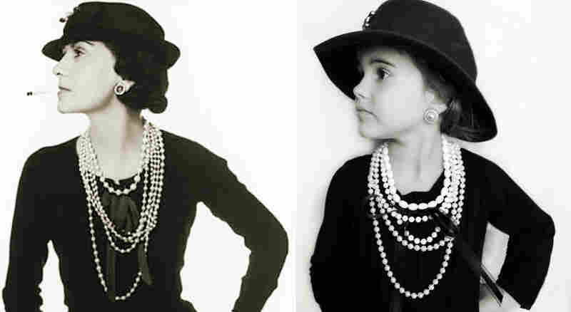 Emma as Coco Chanel.