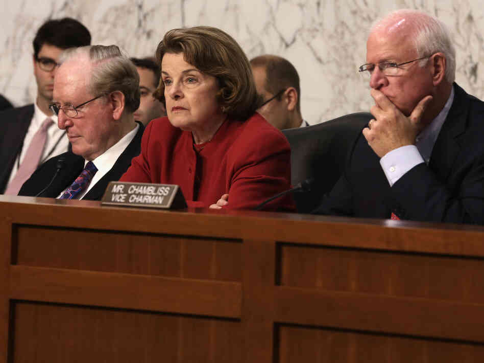 Senate Intelligence Committee Chairman Dianne Feinstein duri