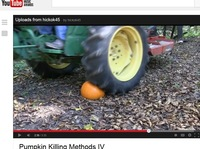 When a tractor tire meets a pumpkin, the gourd doesn't win. That's one of the