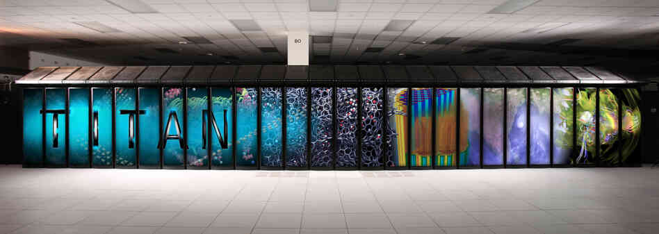 Budget cutbacks threaten a planned upgrade of the massive Titan supercomputer, seen here, at Oak Ridge National Laboratory.
