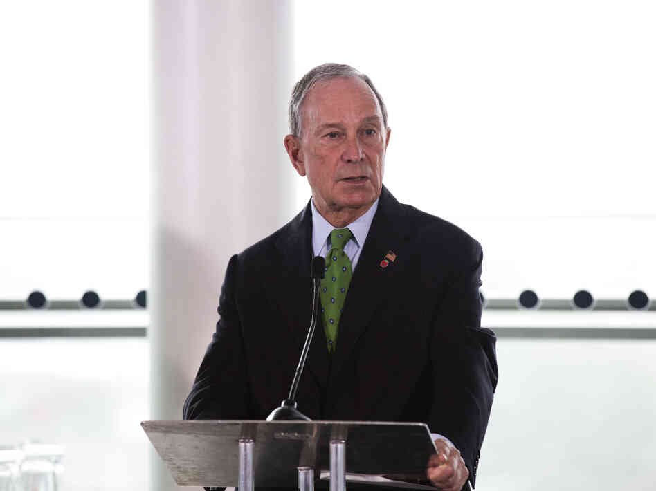 New York Mayor Michael Bloomberg speaks during a press conference in London in September.