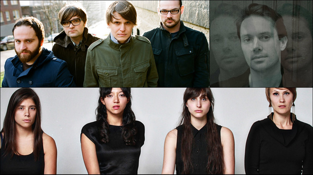 Clockwise from upper left: Death Cab For Cutie, Milosh, Swearin', La Luz (Courtesy of the artists)