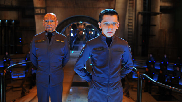 Ender (Asa Butterfield) is a prodigy military cadet being trained by a team of adults — including Mazer Rackham (Ben Kingsley) — to fend off a hostile alien race in a much-discussed adaptation of Ender's Game.