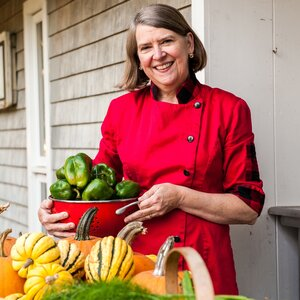 """Processing 17,000 pounds of local tomatoes and another 20,000 pounds of apples and cranberries is back-breaking work. I am only doing it because no one else is,"" says Cheryl Wixon."