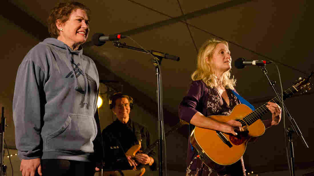 Julia Sweeney and Jill Sobule perform live on Mountain Stage.