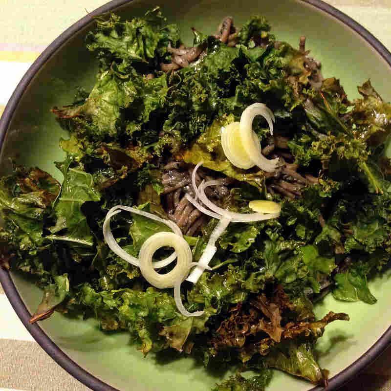 Black Sesame Soba Noodles with Crispy Kale