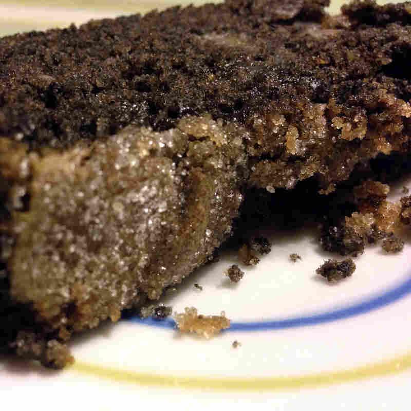 Black Sesame-Pear Tea Cake