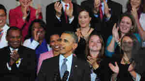 President Obama speaks Wednesday at Boston's Faneuil Hall about the implementation of the Affordable Care Act.