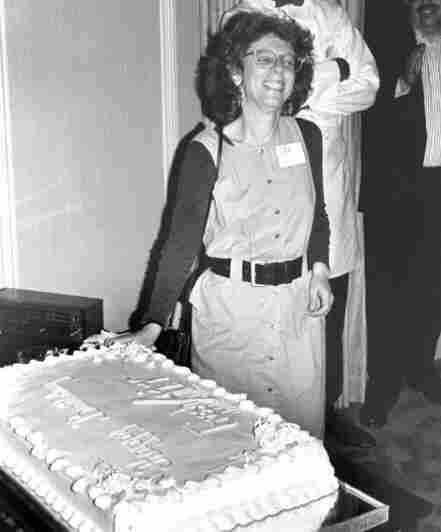 Terry Gross celebrates Fresh Air's first anniversary as a national program in 1988. NPR had previously only offered the news-talk show to Member Stations on a weekly basis.