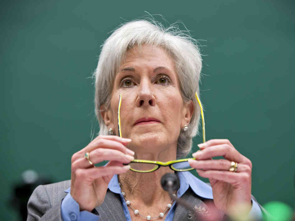 """I apologize,"" Health and Human Services Secretary Kathleen Sebelius said Wednesday at a congressional hearing on problems with HealthCare.gov."