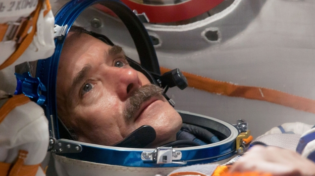 "Canadian astronaut Chris Hadfield has spent a total of six months in space. In his new book, he writes that getting to space took only ""8 minutes and 42 seconds. Give or take a few thousand days of training."" (Courtesy of Little, Brown and Company)"