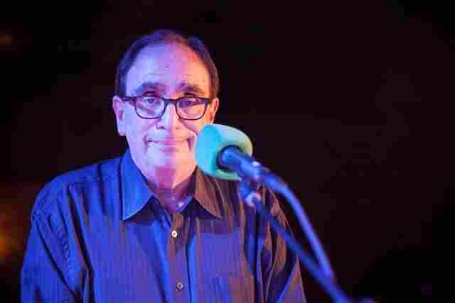 Who better to have as the Halloween-week VIP (Very Important Puzzler) at Ask Me Another than the man behind Goosbumps and the nightmares of children everywhere: R.L Stine. Here he is on stage at The Bell House.