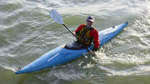 Stephen Linaweaver has been kayaking from Oakland, Calif., to work in San Francisco for four years.