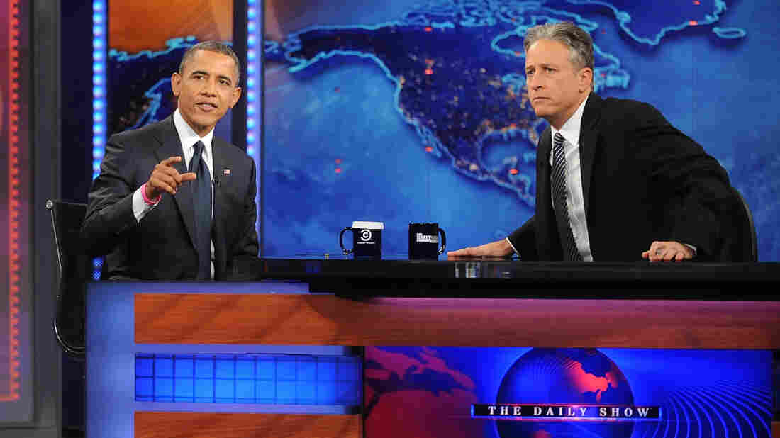 Jon Stewart, shown here interviewing President Obama on The Daily Show in October 2012, has been lampooning the problems with the Affordable Care Act website in recent episodes.