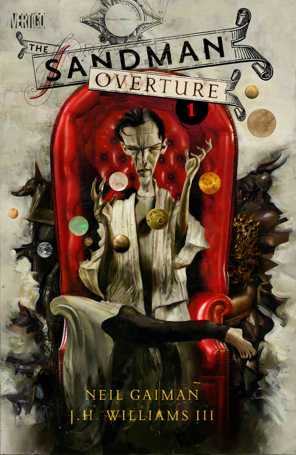 Dave McKean's variant cover for Sandman: Overture 1 presents a new vision of the Sandman.