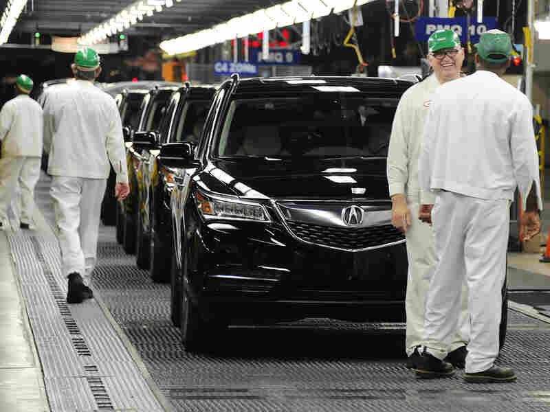 Acura MDX sport utility vehicles roll off the assembly line at a Honda plant in Lincoln, Ala., in May. Overseas investors have U.S. assets totaling nearly $4 trillion, including auto plants, banks and mines.