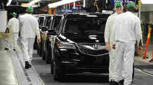 Acura MDX sport utility vehicles roll off the assembly line at a Honda plant in Lincoln, Ala., in May. Overseas investo