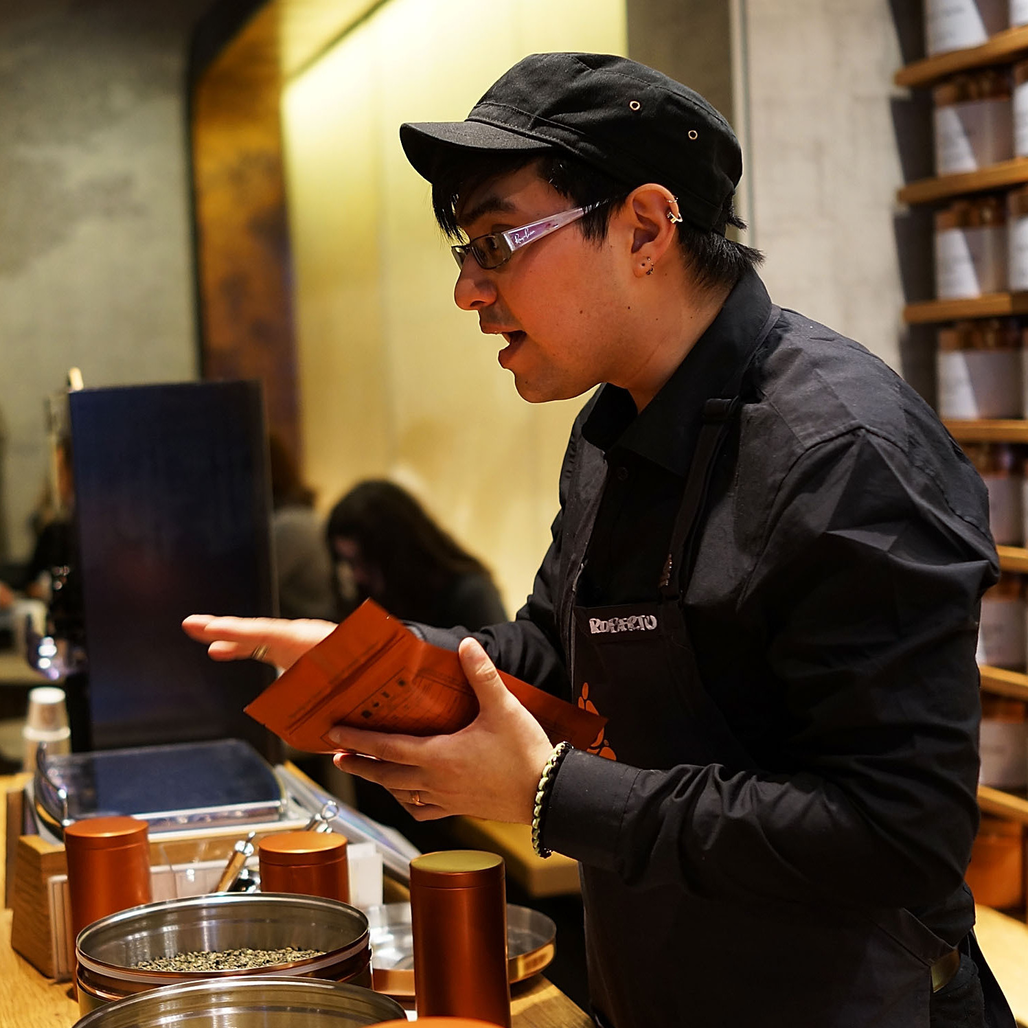 Tea is served at the newly opened, Starbucks-owned Teavana tea bar in New York City.