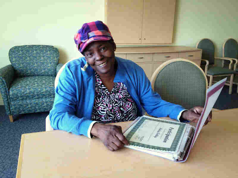 Shirley Ashley, 55, never learned how to read. With classes, she is finally able to read her own bills.