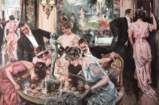 Howard Chandler Christy's painting Halloween, as reproduced in Scribner's in January 1916.