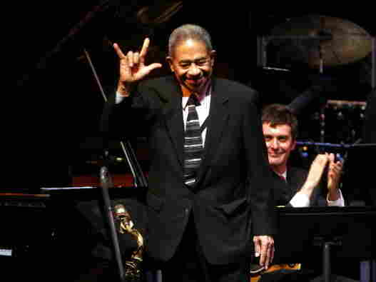 Frank Wess appears at a tribute concert in 2007.