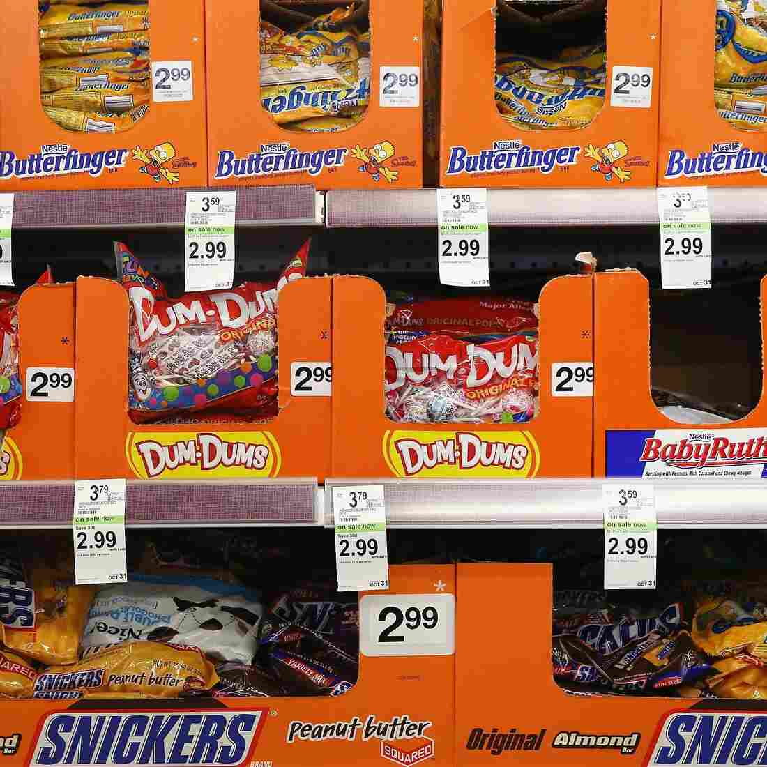 Halloween candy is offered for sale at a Walgreens store on September 19, 2013 in Wheeling, Illinois.