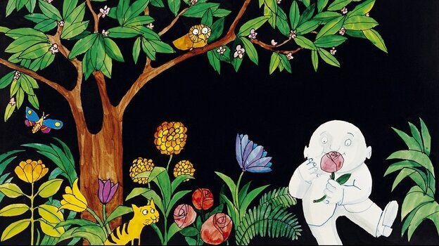 Tomi Ungerer's 1967 book Moon Man follows its lonely protagonist as he visits Earth for the very first time.