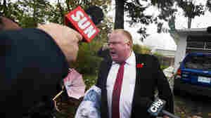 When he emerged from his home Thursday morning, Toronto Mayor Rob Ford found reporters in his driveway. As they peppered him with questions, he shouted that they had to get out of his way. He didn't respond to questions about a video that allegedly shows him smoking crack.