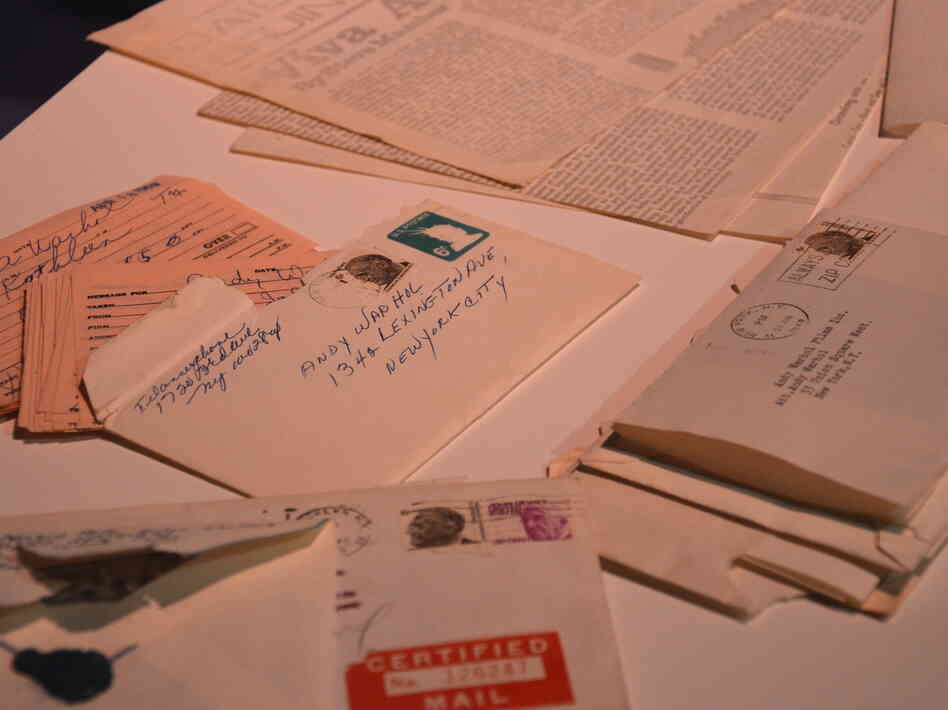 Andy Warhol kept much of the ephemera of his daily life in boxes called Time Capsules, now at the Andy Warhol Museum in Pittsburgh. This correspondence addressed to War