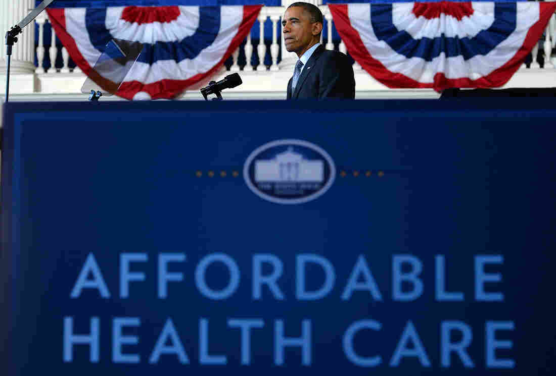 President Obama speaks about the Affordable Care Act on Wednesday in Boston.