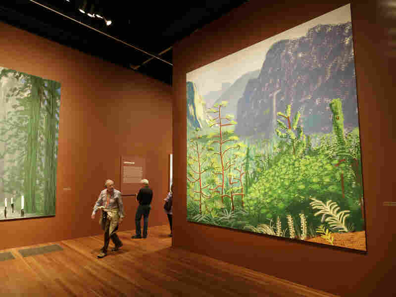 These landscape paintings of Yosemite National Part were made by renowned British artist David Hockney using an iPad.