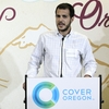 Matthew Collier, an uninsured entrepreneur, speaks at a rally sponsored by Cover Oregon in Portland, Ore., on Oct. 1.