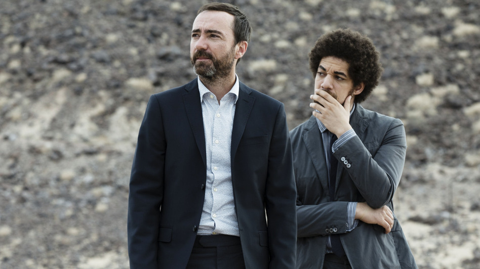 Broken Bells — James Mercer (left) and Brian Burton (a.k.a. Danger Mouse) — are back with a new album. <em>After The Disco</em> is due out in January.