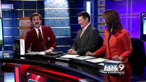 """Stay classy, Boise"": KIVI TV sports director Paul Gerke delivered his segment while in the character of Run Burgundy Thursday."