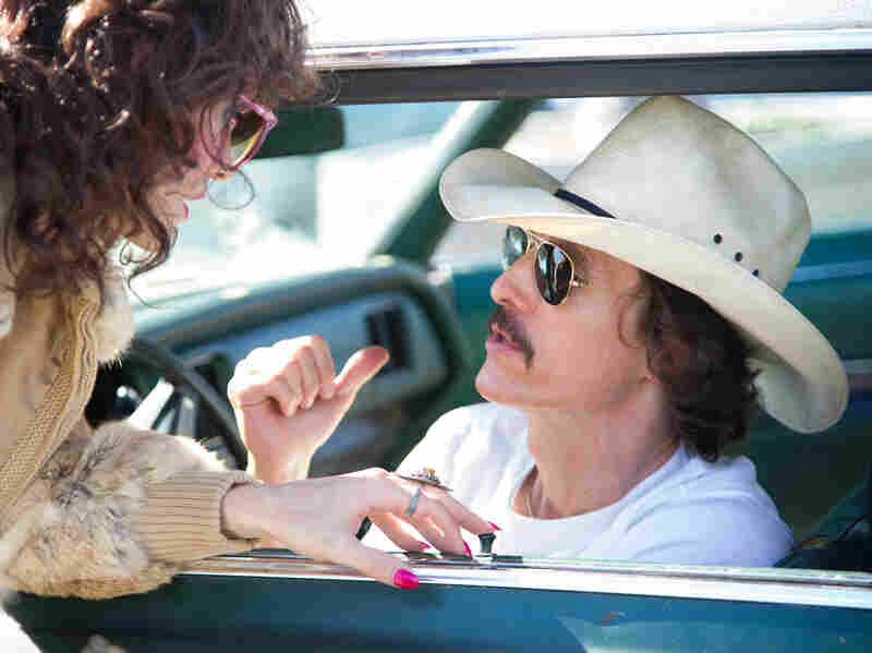 McConaughey in a scene from Dallas Buyers Club. The actor lost 38 pounds to play the physically wasting Woodroof.