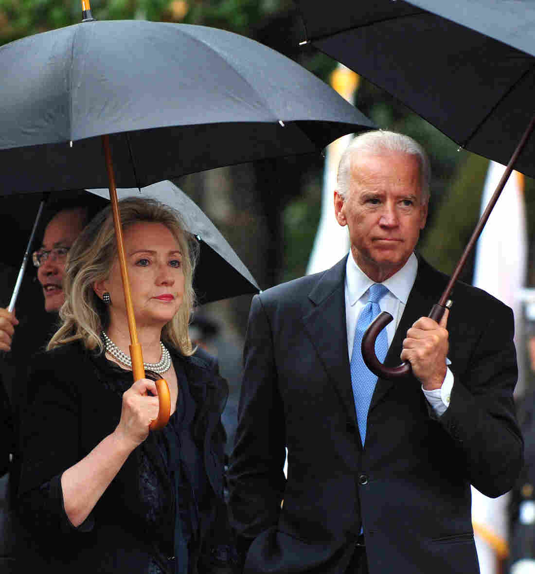 Then-Secretary of State Hillary Clinton and Vice President Biden at a White House event in October 2011. A new book says President Obama's aides were then studying whether to replace Biden with the former first lady on the 2012 ticket.