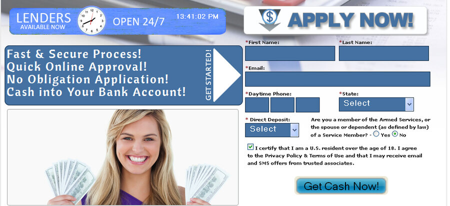 Can I send online payday loan services a check to pay them off?