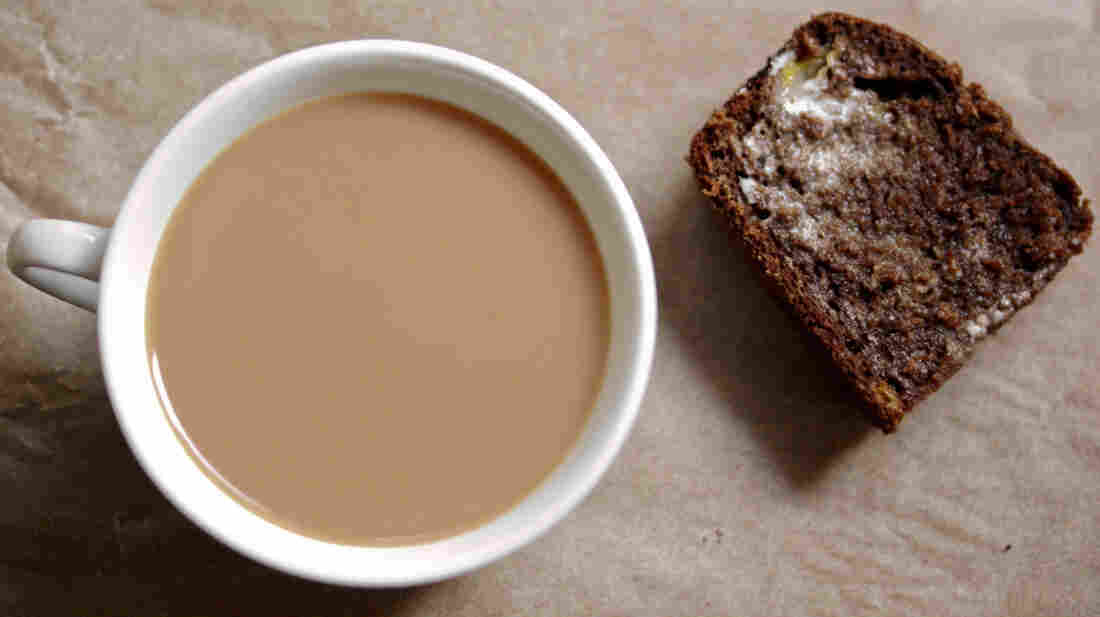Banana-Cocoa Bread — made with homemade yogurt — is a perfect treat with coffee or tea.
