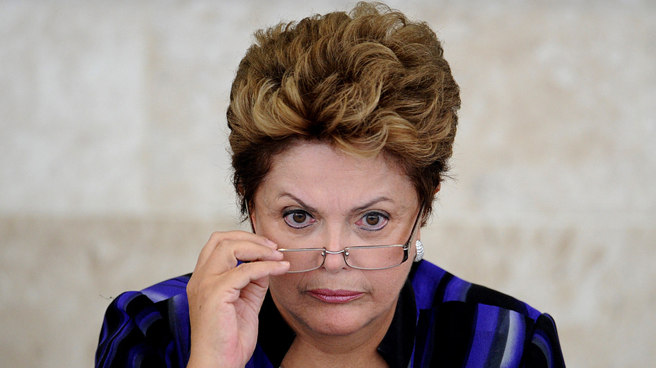 Brazilian President Dilma Rousseff takes part in the meeting of the Economic and Social Development Council, at Planalto Palace, in Brasilia, on February 27, 2013. (AFP/Getty Images)
