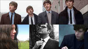 Clockwise from top: The Beatles, James Blake, Colin Meloy, Marisa Anderson